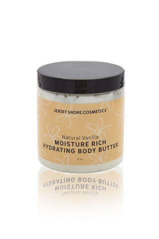 JERSEY SHORE COSMETICS Moisture Rich Hydrating Body Butter Beauty | Natural Vanilla| Jersey Shore Cosmetics Moisture Rich Hydrating Body Butter
