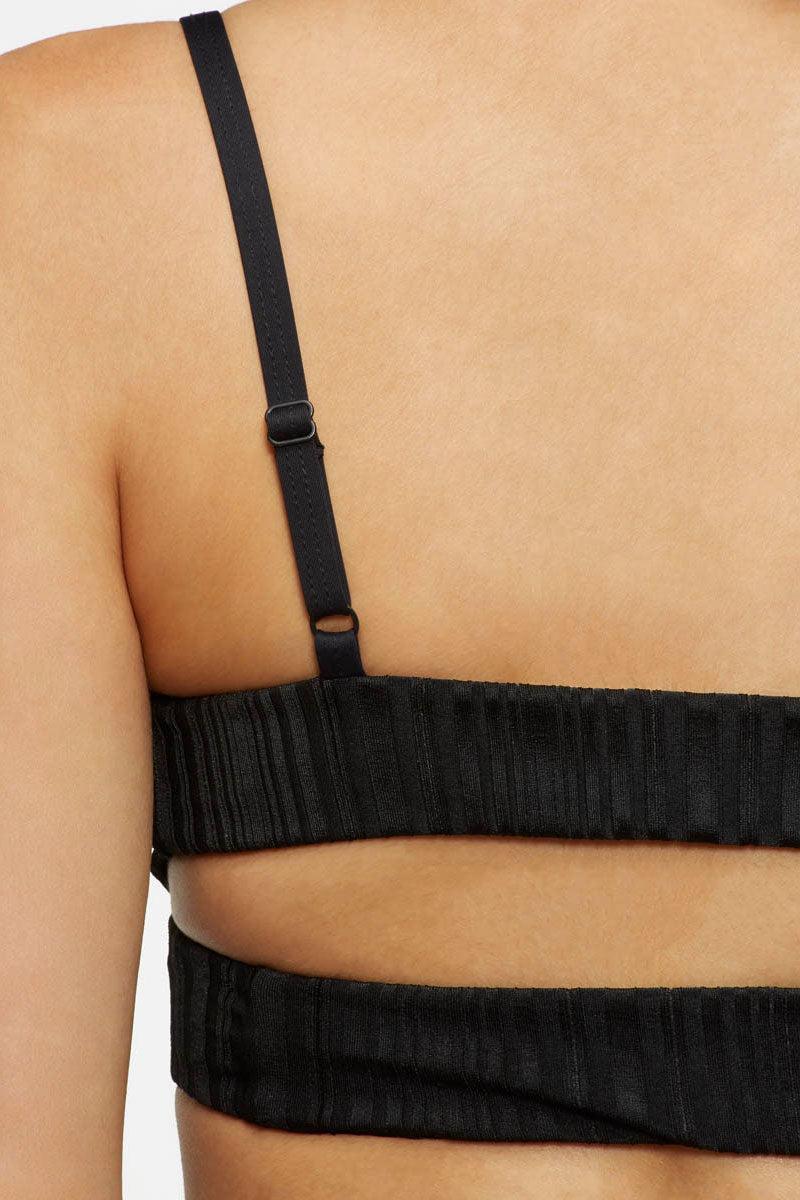7cd073cac9c54 ... TAVIK Juliet Ribbed Cut Out Bralette Bikini Top - Slinky Black Bikini  Top | Slinky Black ...
