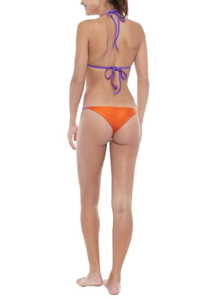 KOVEY Reversible Cove Cheeky Bikini Bottom - Purple/Ember Bikini Bottom   Purple/Ember  KOVEY Reversible Cove Bikini Bottom