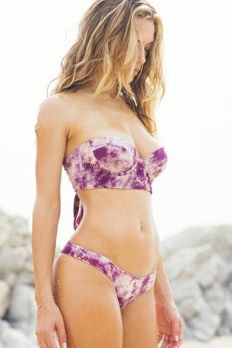 TORI PRAVER Kahana Top Bikini Top | Shorebreak Sangria| Tori Praver Kahana Top