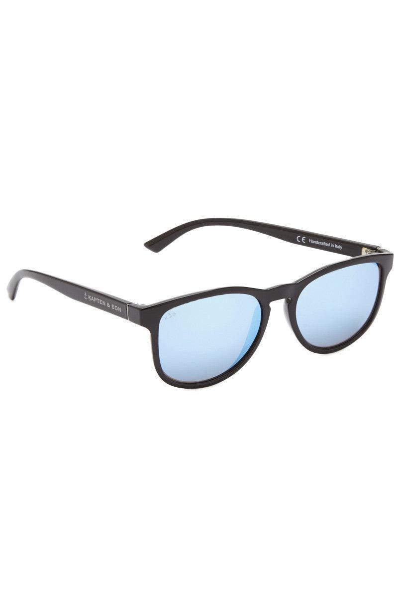 KAPTEN AND SON Soho Sunglasses Sunglasses | Black/Blue | Kapten and Son Soho Sunglasses