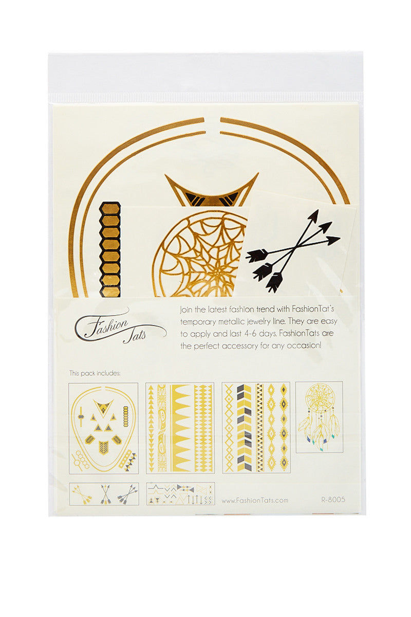 FASHION TATS Kaya Pack Accessories | Gold| Fashion Tats Kaya Pack