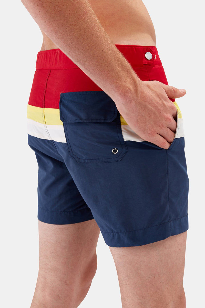 SOLID & STRIPED MEN Kennedy Square-Cut Swim Trunks (Men's) - Slate Yellow Mens Swim | Slate Yellow|