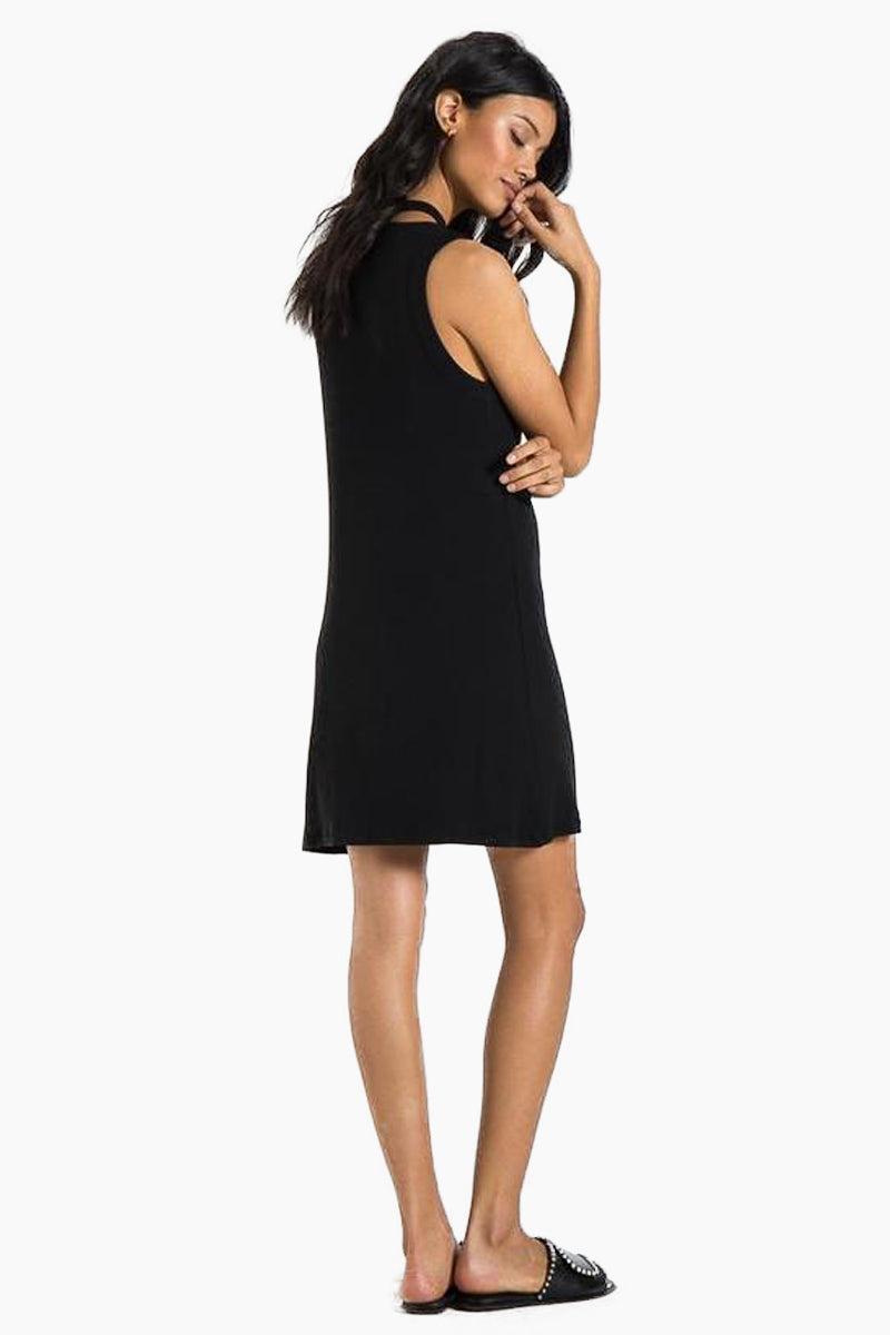 N:PHILANTHROPY Kennedy Dress - Black Cat Dress | Black Cat| n:Philanthropy Kennedy Dress - Black Cat Mini tank dress Cutout detail at neckline  Back View