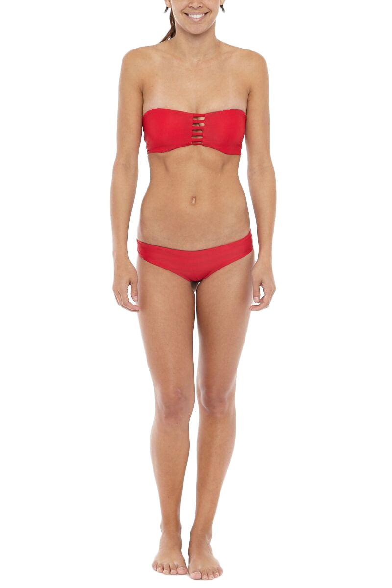 KHONGBOON Prato Reversible Bottom Bikini Bottom | Blue and White/Red| Khongboon Brunei Reversible Top