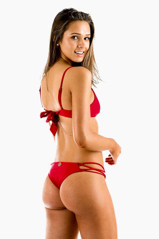 MOLLY J Kiki Bikini Top - Red Bikini Top | Red | Molly J Kiki Bikini Top Back View