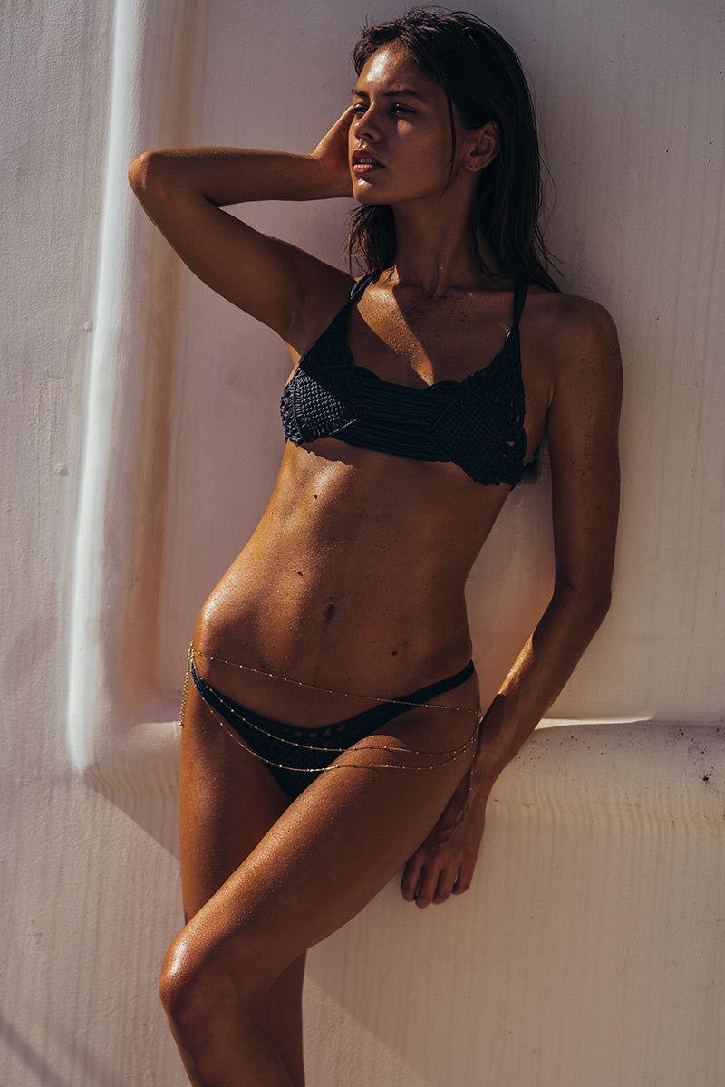 INDAH Kohsamui Macrame Bottom - Rocket Bikini Bottom   Rocket  Indah Kohsamui Macrame Bikini Bottom