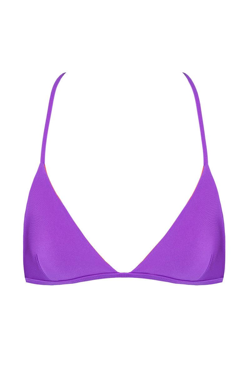 KOVEY Reversible Peaks Triangle Bikini Top - Purple/Ember Bikini Top | Purple/Ember|