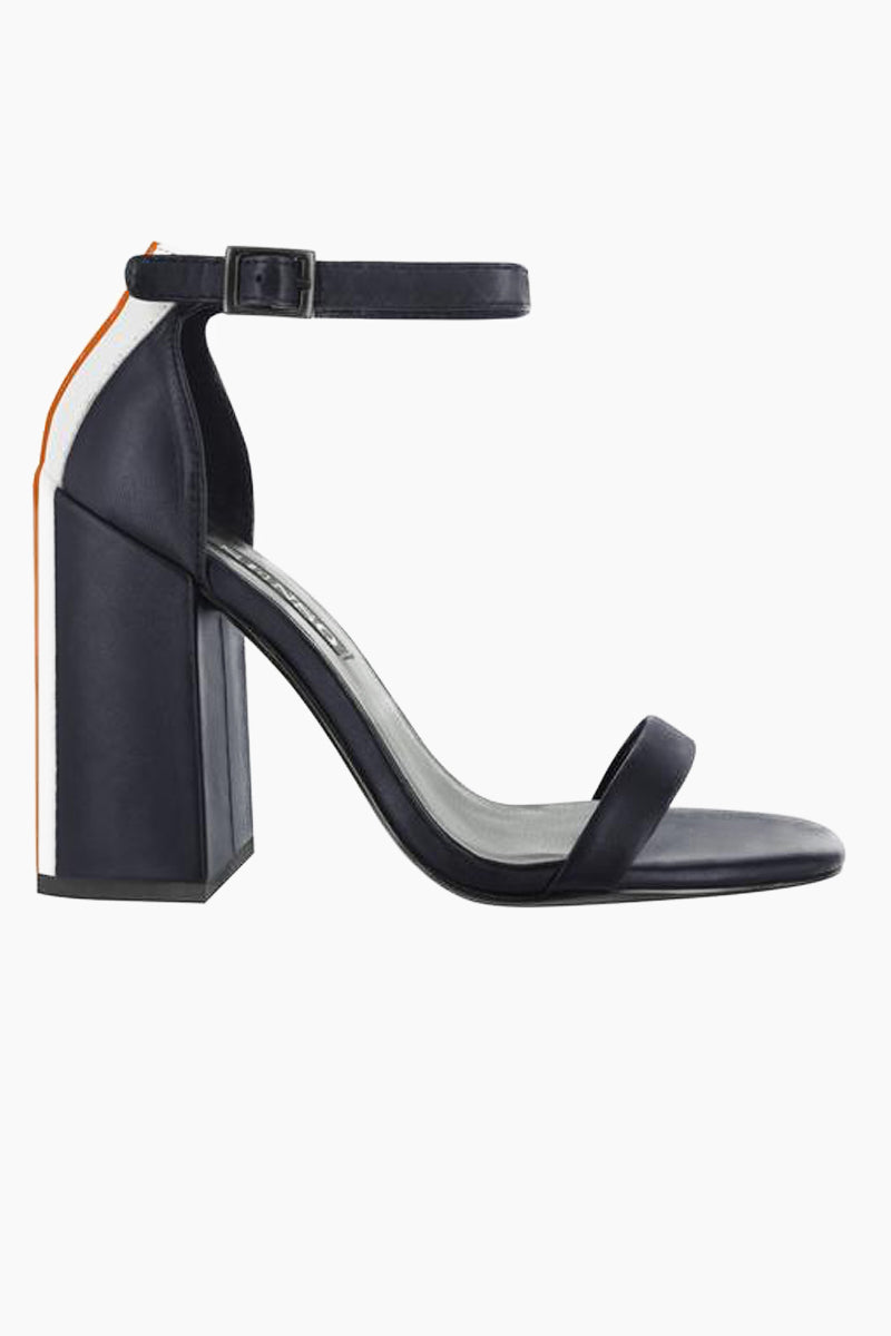 SENSO Lana Block Heel Sandals - Navy Colorblock Shoes | Navy Colorblock | Senso Lana Block Heel Sandals - Navy Colorblock. Features:  Soft leather Buckle fastening at ankle Square heel leather lining Heel height 4.29 inches Front View
