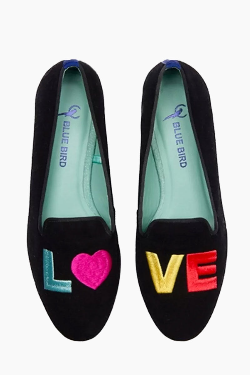 """BLUE BIRD Love Colors Loafer - Black Shoes 