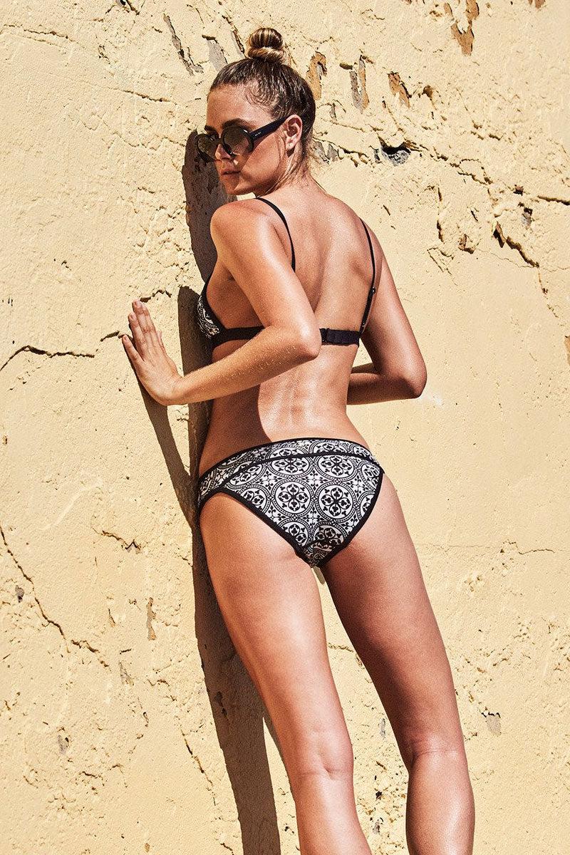 DUSKII La Kasbah Scuba Moderate Bikini Bottom - Tile Bikini Bottom | Tile| Duskii La Kasbah Pant