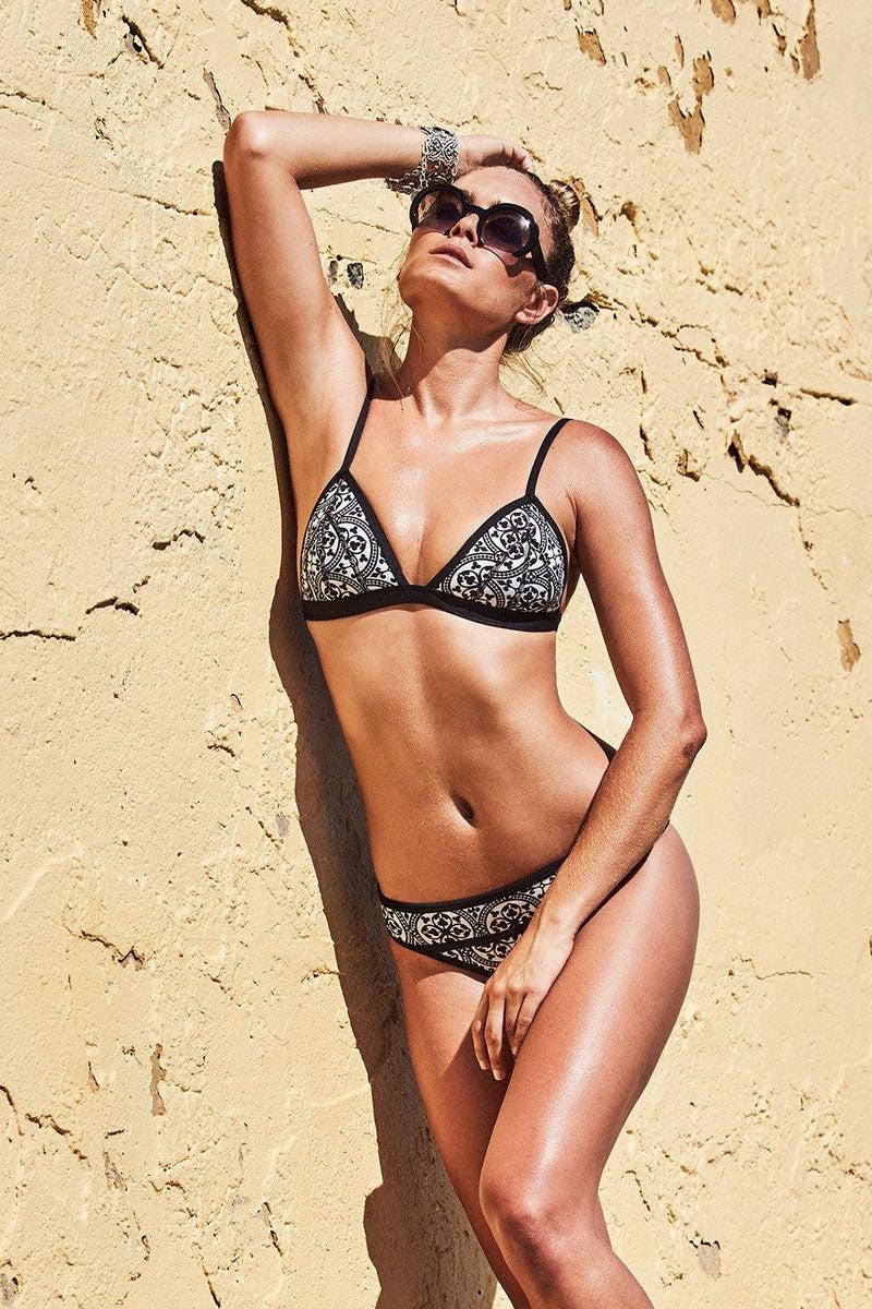 DUSKII La Kasbah Tri Triangle Bikini Top - Tile Bikini Top | Tile| Duskii La Kasbah Tri Bikini Top