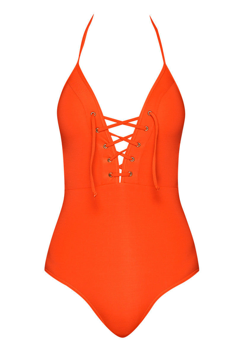 JETS Lace Up One Piece Swimsuit - Valencia One Piece   Valencia  Lace Up One Piece