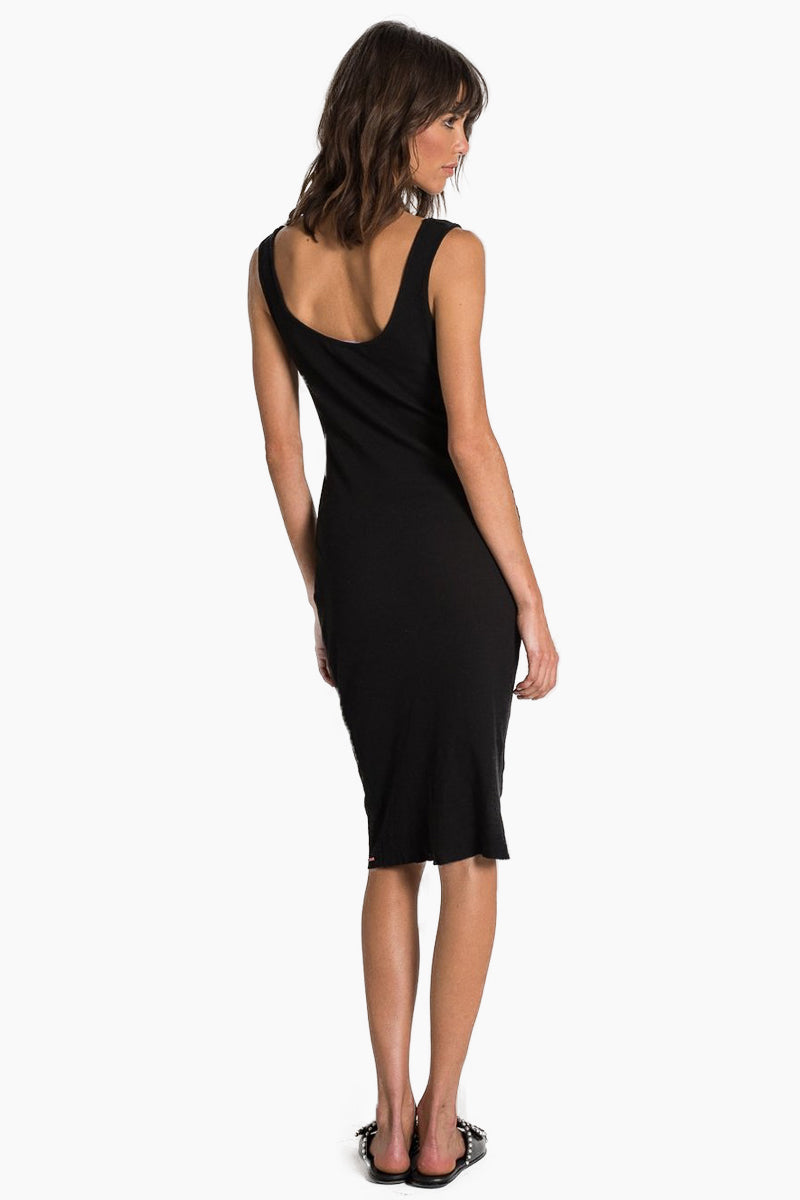 N:PHILANTHROPY Ladder Dress - Black Cat Dress | Black Cat| n:Philanthropy Ladder Dress - Black Cat Midi tank dress Scoop neckline  Scoop back Thick shoulder straps  Back View