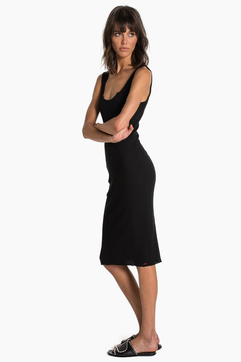 N:PHILANTHROPY Ladder Dress - Black Cat Dress | Black Cat| n:Philanthropy Ladder Dress - Black Cat Midi tank dress Scoop neckline  Scoop back Thick shoulder straps  Side View