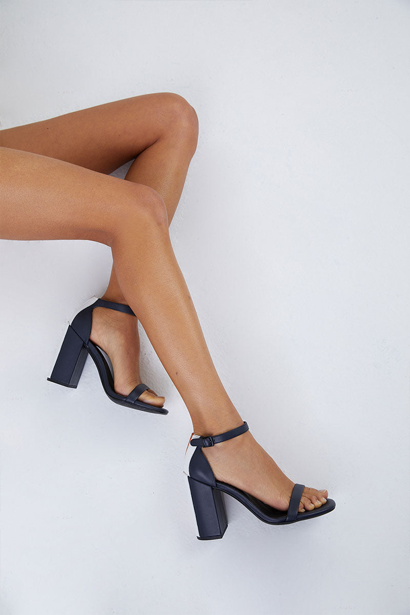 bc5e47e8d8f Lana Block Heel Sandals - Navy Colorblock