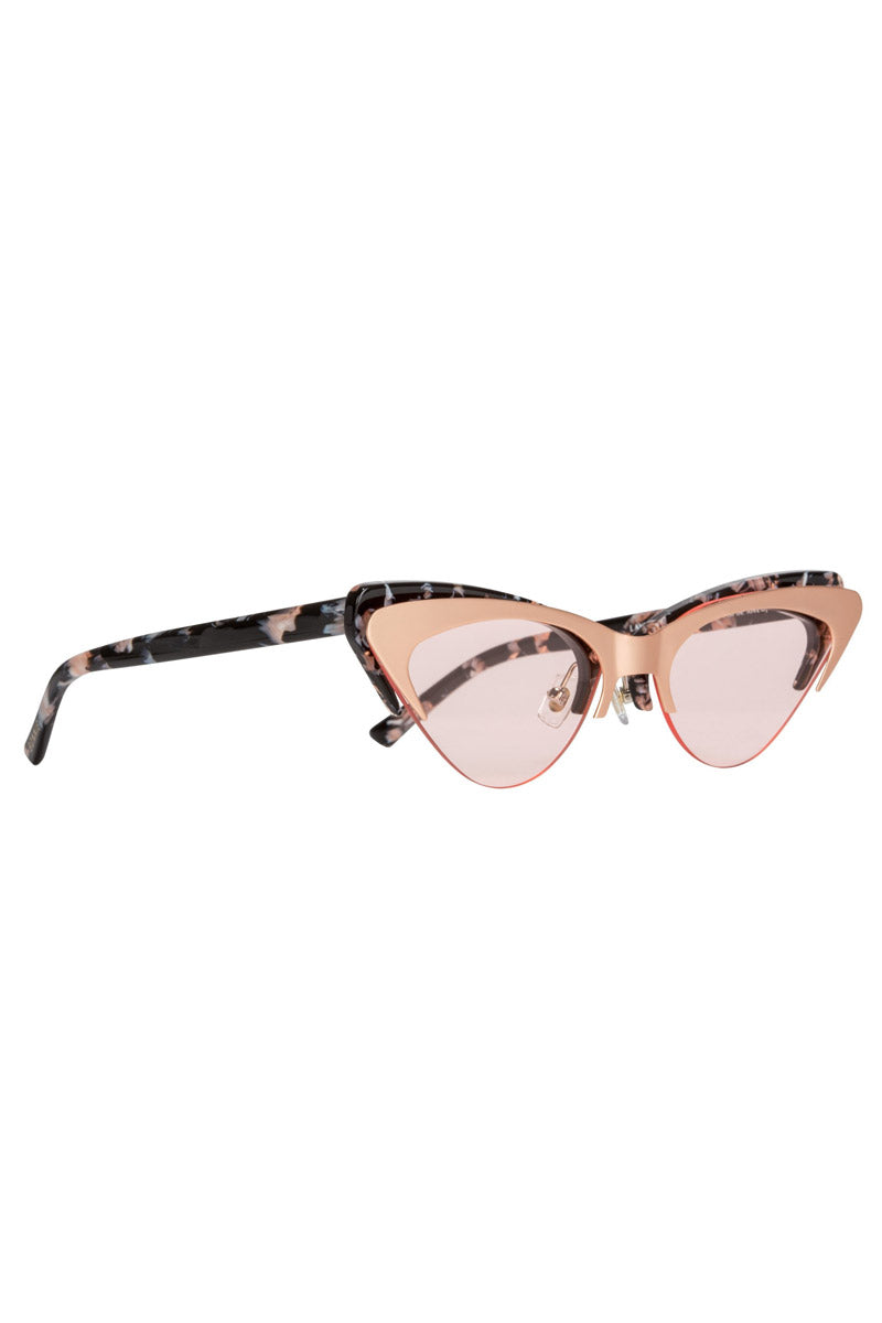 BONNIE CLYDE The Layer Cake Sunglasses - Creme Brulee Sunglasses   Creme Brulee  Bonnie Clyde The Layer Cake Sunglasses - Creme Brulee. Features:  This style goes particularly well with Heart, Round, Square, and oval faces  Unisexual   100% UV Protection   Glare reduction  Scratch-resistant coating  Made from Stainless Steel & Acetate