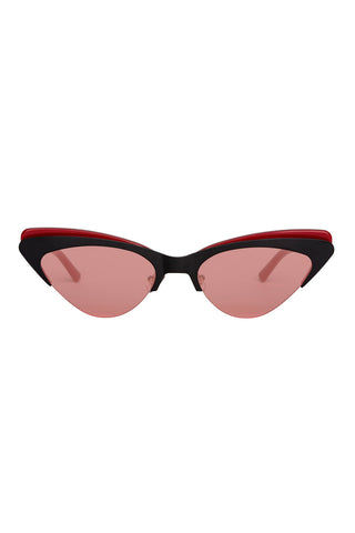 BONNIE CLYDE The Layer Cake Sunglasses - Red Velvet Sunglasses | Red Velvet| The Layer Cake Sunglasses - Red Velvet. Features:  This style goes particularly well with Heart, Round, Square, and oval faces  Unisexual   100% UV Protection   Glare reduction  Scratch-resistant coating  Made from Stainless Steel & Acetate