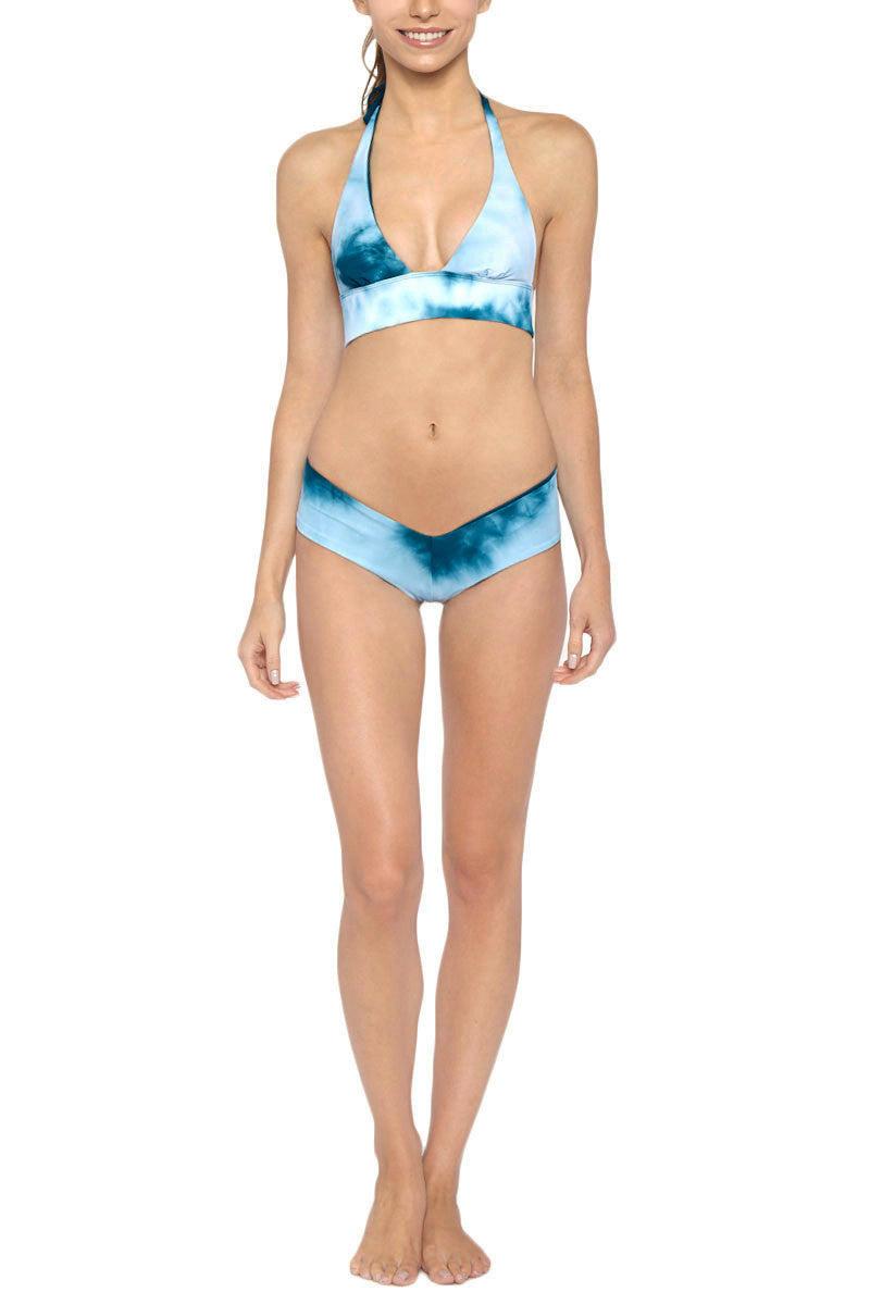LES COQUINES Dani Reversible Halter Bikini Top - Ocean/Fiji Bikini Top | Ocean/Fiji| Les Coquines Dani Reversible Halter Bikini Top