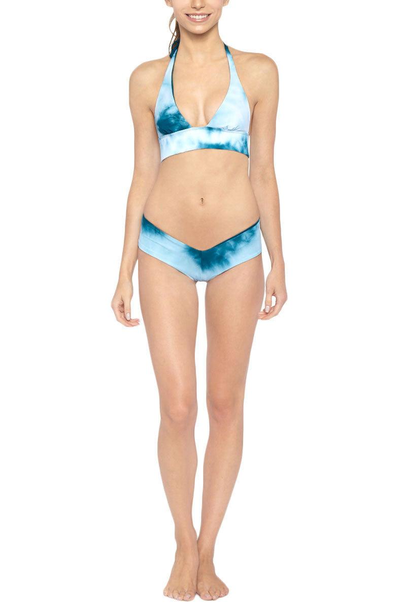 LES COQUINES Chloe Reversible Low Rise Bikini Bottom - Ocean/Fiji Bikini Bottom | Ocean/Fiji| Les Coquines Chloe Reversible Bikini Bottom