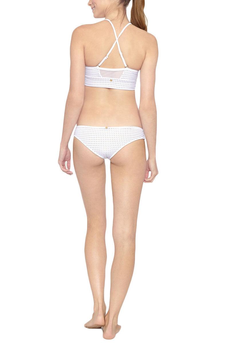 LES COQUINES Milo Low Rise Hipster Bikini Bottom - Reef Blanc Bikini Bottom | Reef Blanc| Les Coquines Milo Full Bikini Bottom