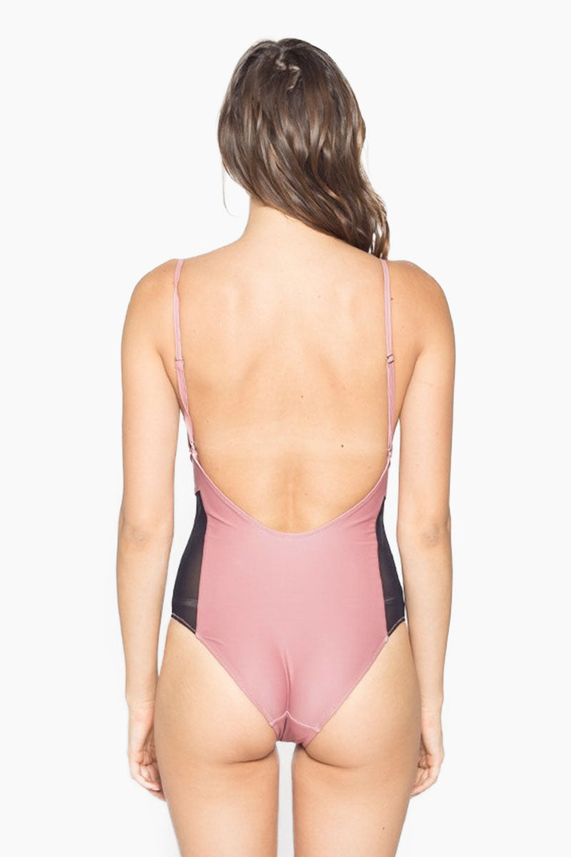 LIRA Limitless One Piece Swimsuit - Clay One Piece | Clay|Limitless One Piece Swimsuit - Lira 82% NYLON 18% SPANDEX ONE PIECE SUIT WITH MESH DETAIL