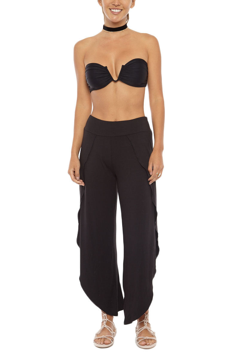 LIRA Modern Love Side Slit Pants - Black Pants | Black| Lira Modern Love Pant