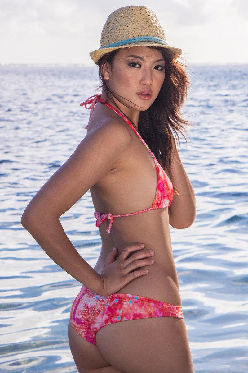 BETTINIS Lotus Top Bikini Top   Pretty In Poison Kacheena