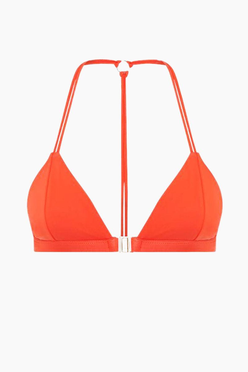 FELLA Louis The II Belted Bikini Top - Burnt Orange Bikini Top | Burnt Orange | Fella Louis The II Top - Burnt Orange front view
