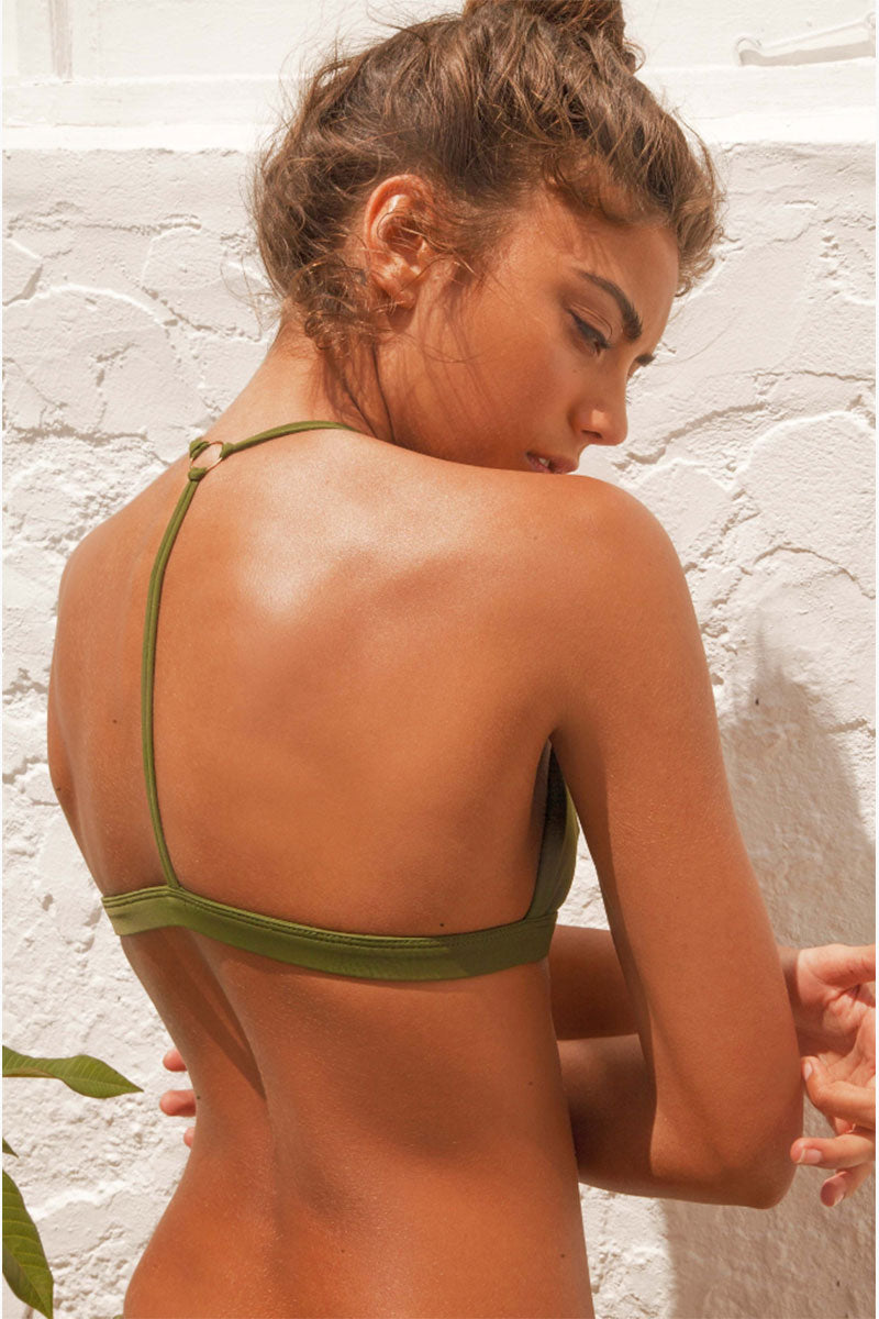 FELLA Louis The II Top - Olive Bikini Top | Olive | Fella Louis The II Top - Olive model back view