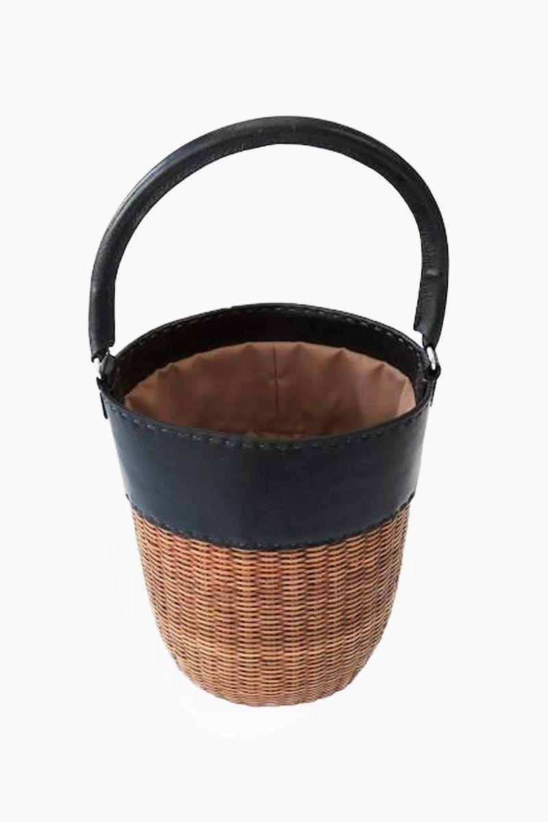 KAYU Lucie Bucket Tote - Black/Natural Bag | Black/Natural|