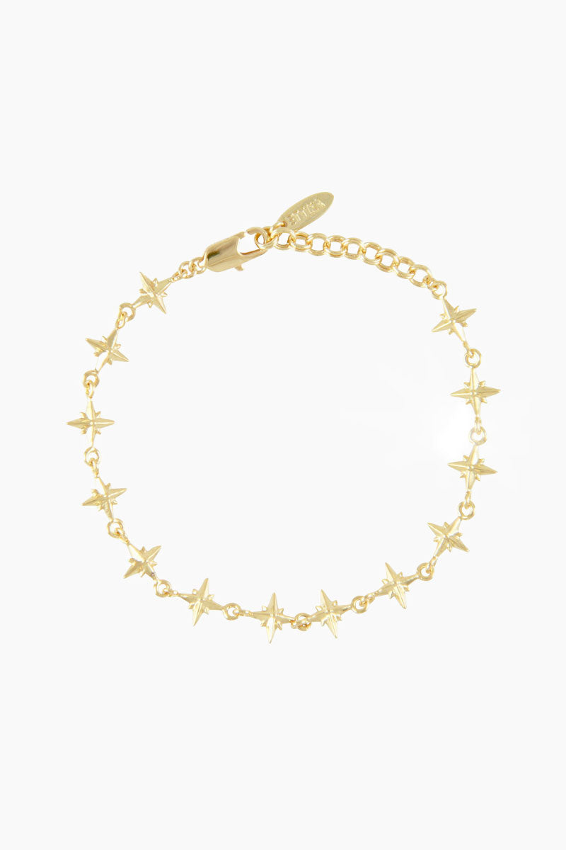 """ETTIKA Lucky Charm Northern Star Bracelet """"The Constant"""" - Gold Jewelry 