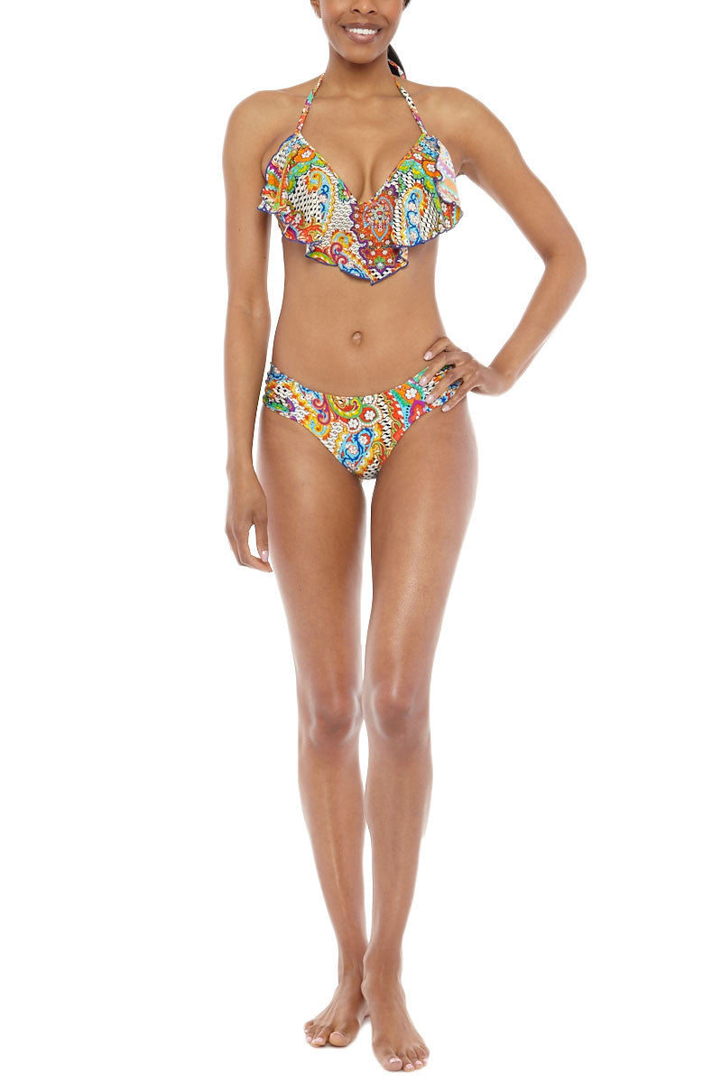 LULI FAMA Cascade Underwire Top Bikini Top | Multicolor Paisley|Luli Fama Cascade Underwire Bikini Top