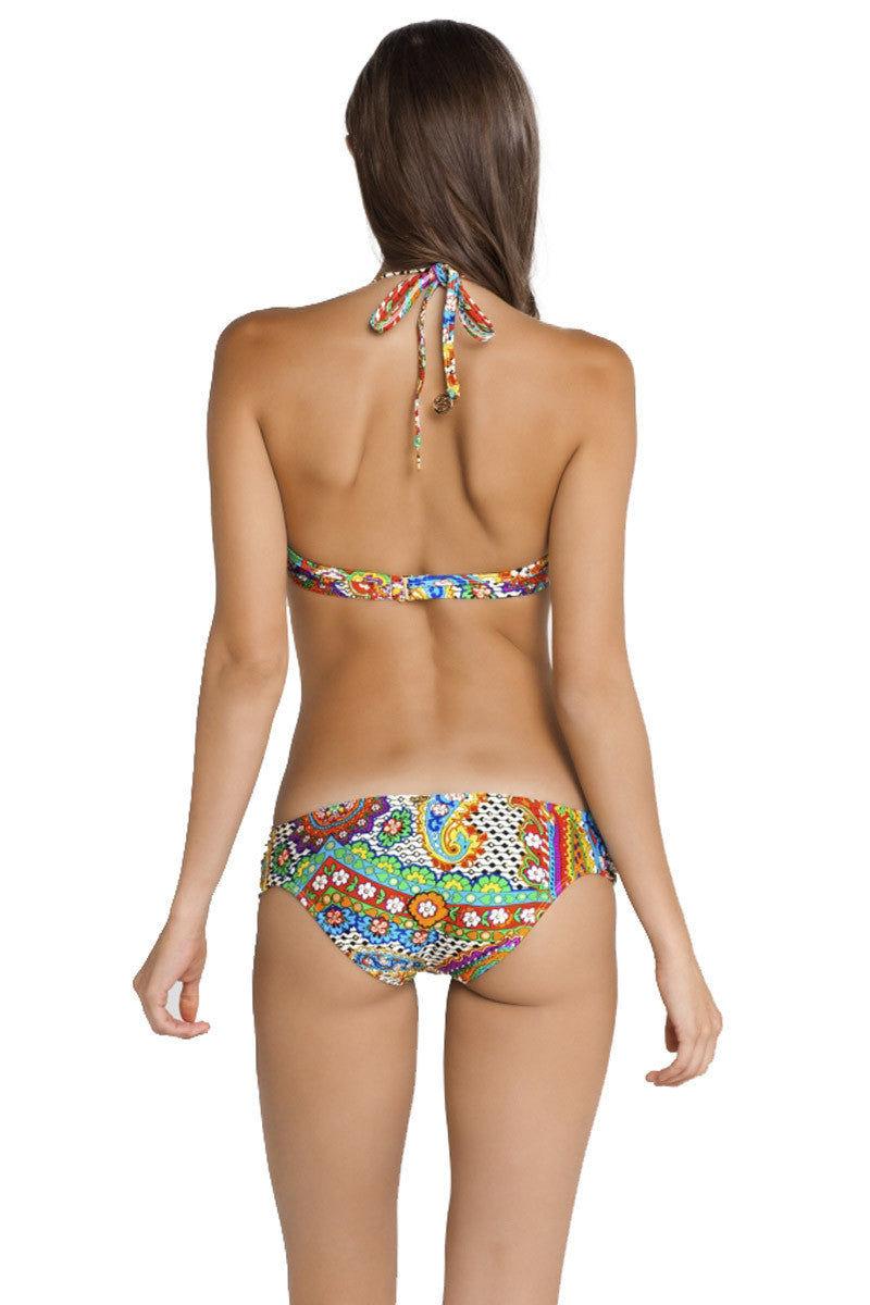 LULI FAMA Cascade Underwire Top Bikini Top | Multicolor Paisley|