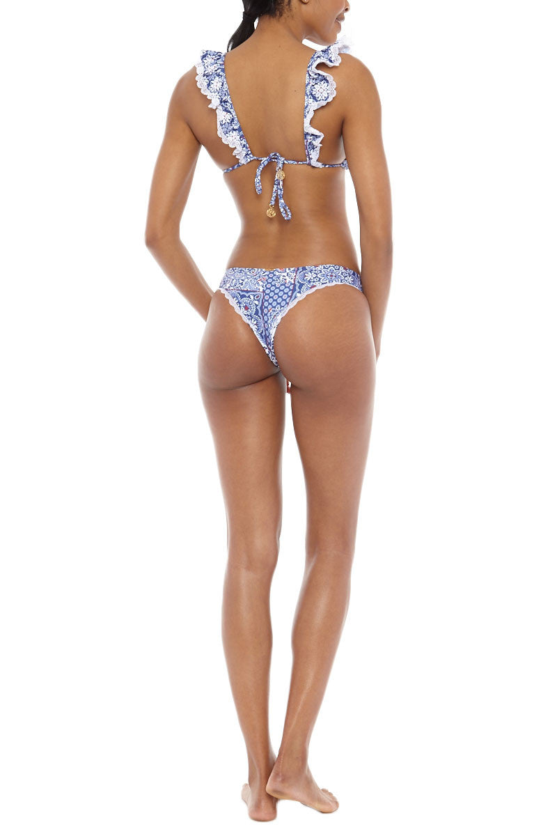LULI FAMA Low Rise Seamless Skimpy Bikini Bottom - Naughty Girl Print Bikini Bottom | Naughty Girl Print| Luli Fama Lo Rise Seamless Skimpy Bottom