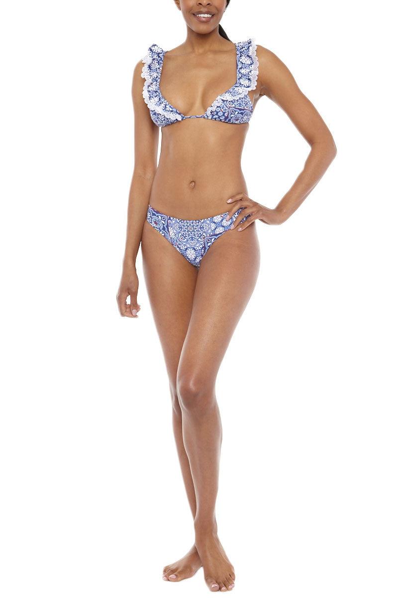 LULI FAMA Low Rise Seamless Skimpy Bikini Bottom - Naughty Girl Print Bikini Bottom | Naughty Girl Print|Luli Fama Low Rise Seamless Skimpy Bikini Bottom - Naughty Girl Print
