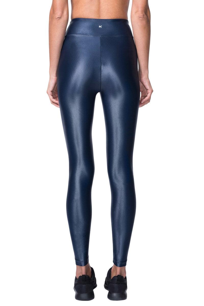 KORAL Lustrous High Rise Legging - Midnight Blue Leggings | Midnight Blue|  KORAL Lustrous High Rise Legging Back View
