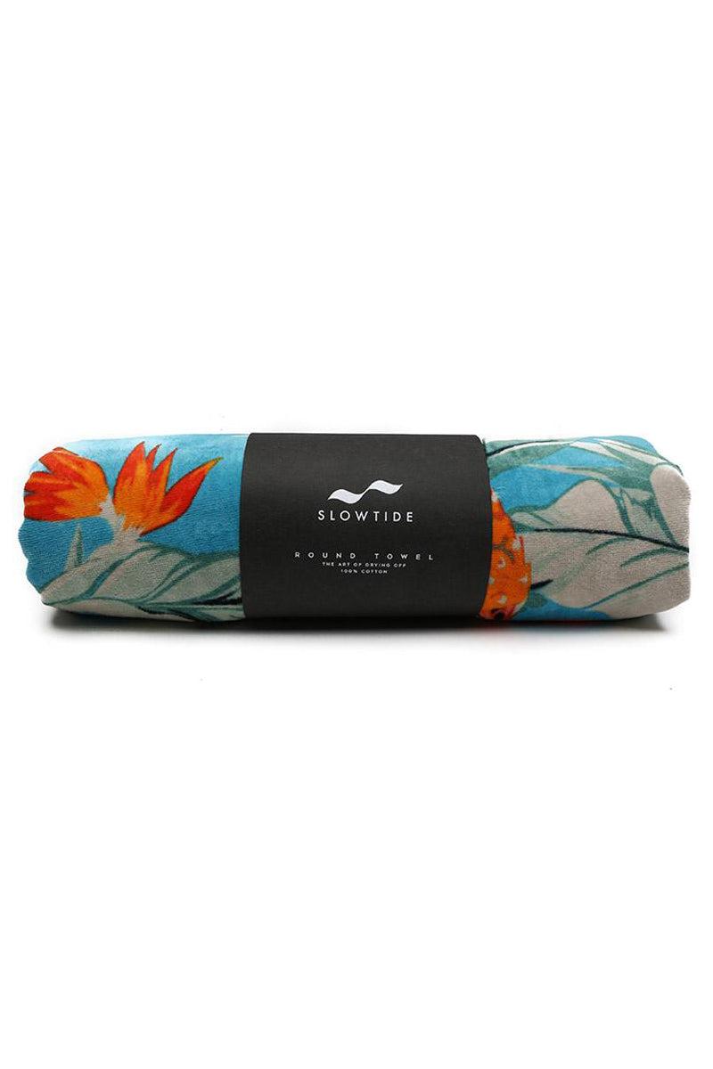 SLOWTIDE Makai Round Towel Towel | Makai| Slowtide Makai Round Towel Rolled View