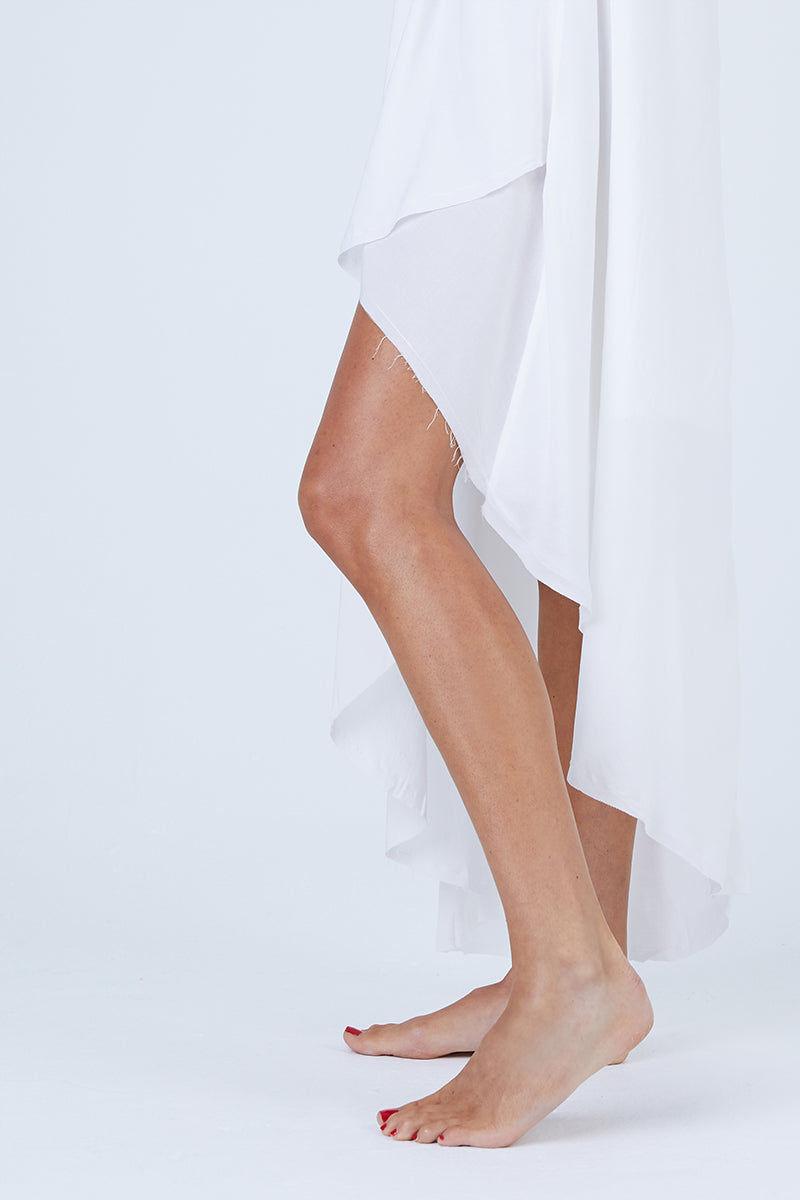 MALAI Moonlit Dress - White Dress   White  Malai Moonlit Dress - White. Features:  Cover up dress Asymmetrical hem detail Fully lined Made of 100% Viscose