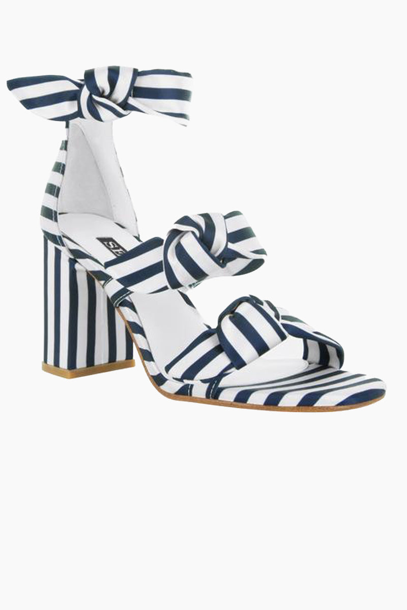 295760b58e ... SENSO Melvy II Triple Strap Heel Sandals - Midnight Stripe Print Shoes  | Midnight Stripe Print ...