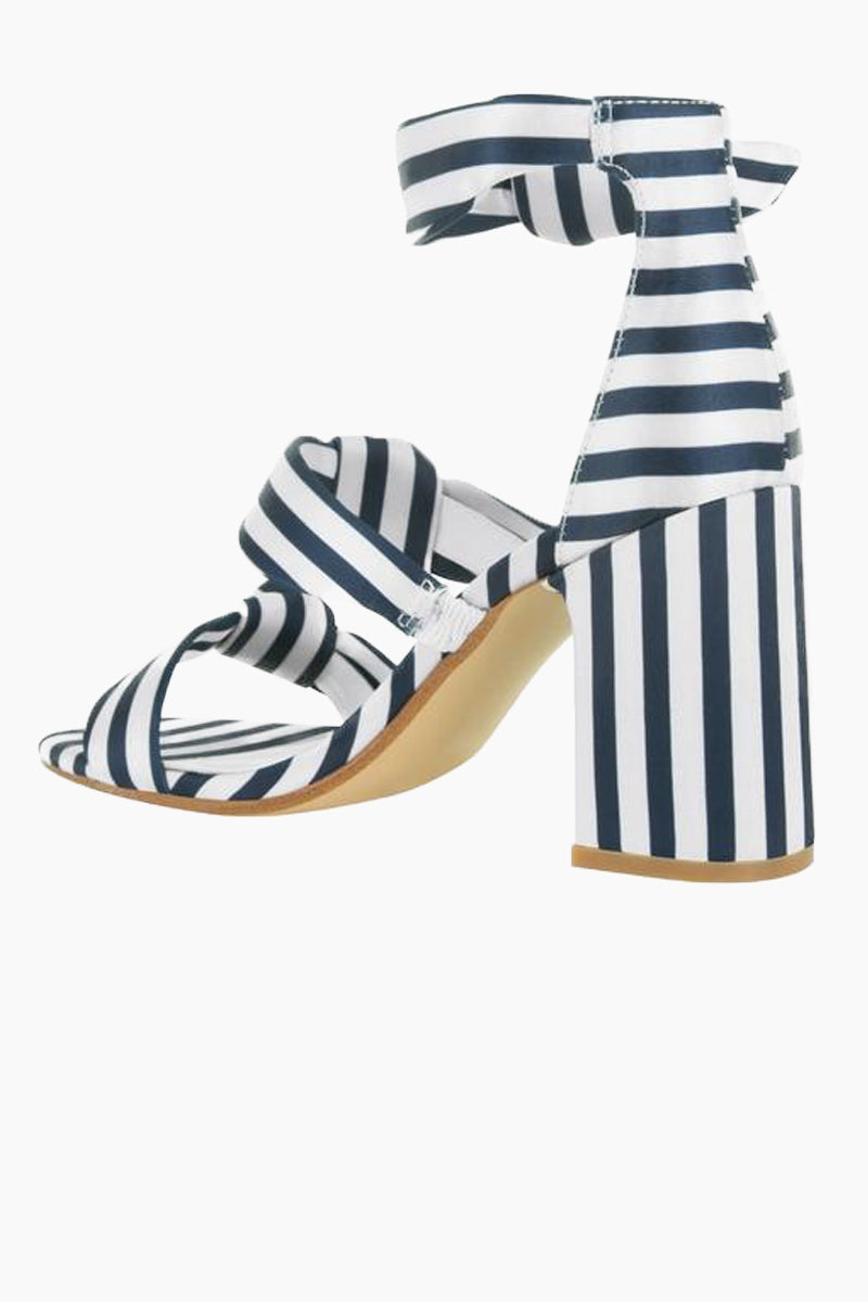 bc263220f8 ... SENSO Melvy II Triple Strap Heel Sandals - Midnight Stripe Print Shoes  | Midnight Stripe Print