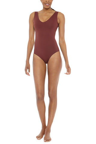MYMARINI Reversible Pure Body One Piece One Piece | Navy/Wood| MYMARINI Reversible Pure Body One Piece