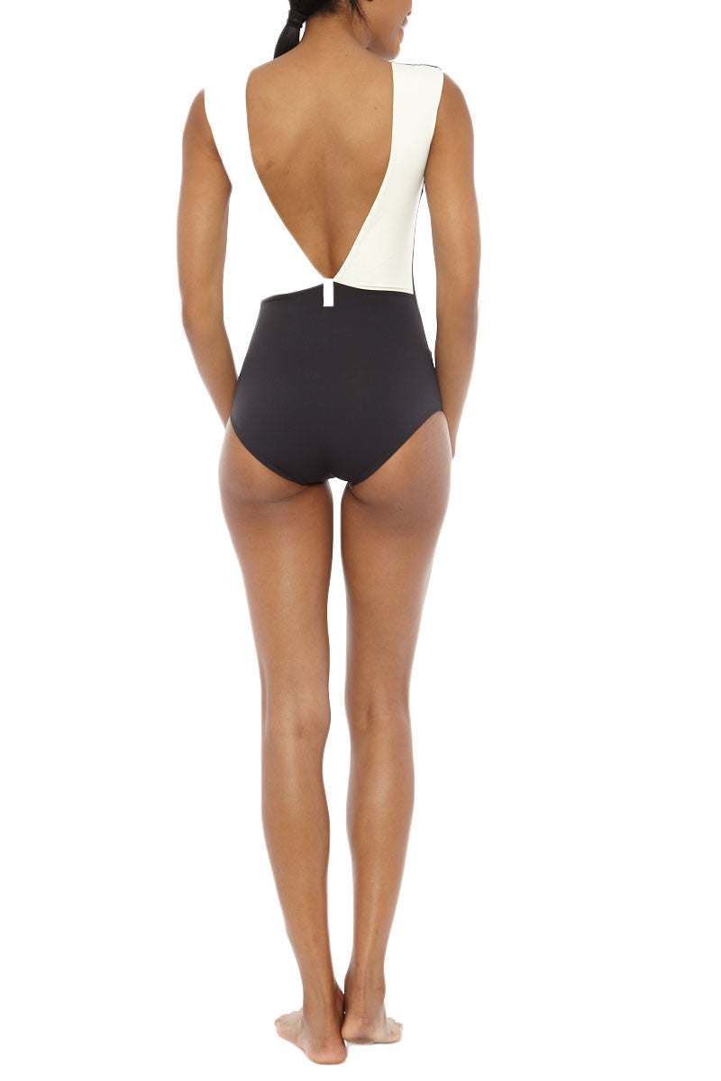 MYMARINI Reversible Sea Body One Piece - Black/Grey One Piece | Black/Grey| MYMARINI Reversible Sea Body One Piece