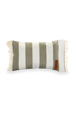 MAHLI BEACH PILLOWS La Belle Handmade Beach Pillow - Grey/Stripe Pillow | Grey/Stripe| Mahli Beach Pillows La Belle
