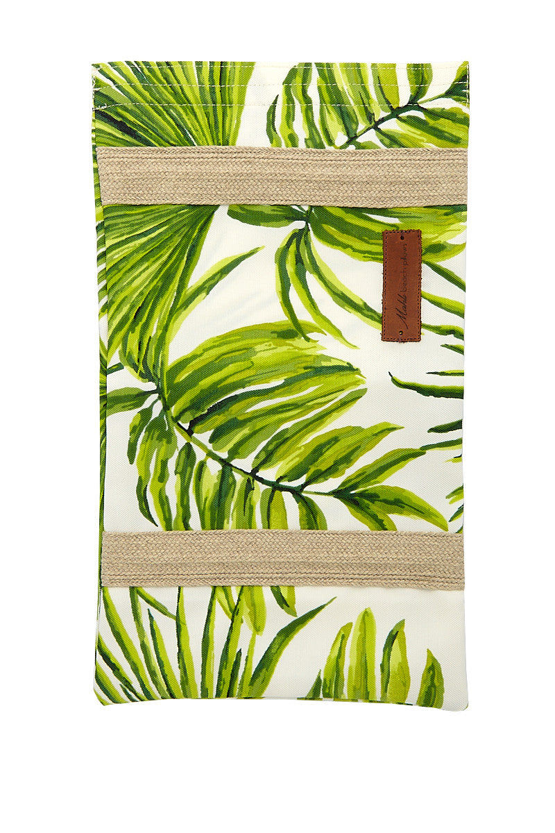 MAHLI BEACH PILLOWS Nusa Tropics Handmade Beach Pillow - Green Pillow | Green| Mahli Beach Pillows Nusa Tropics