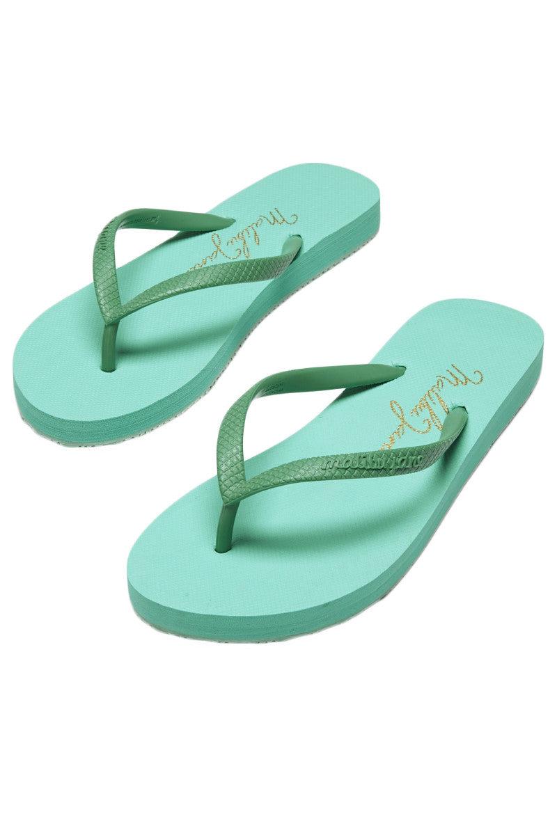 MALIBU JANE Ventura Solid Sandals Sandals   Seafoam  Malibu Jane Ventura