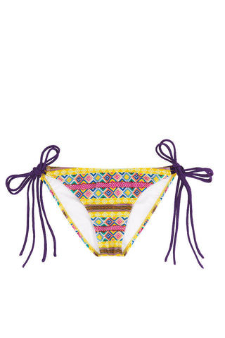 SOLKISSED Mancora Tie Side Moderate Bikini Bottom - Amarillo Bikini Bottom | Amarillo|