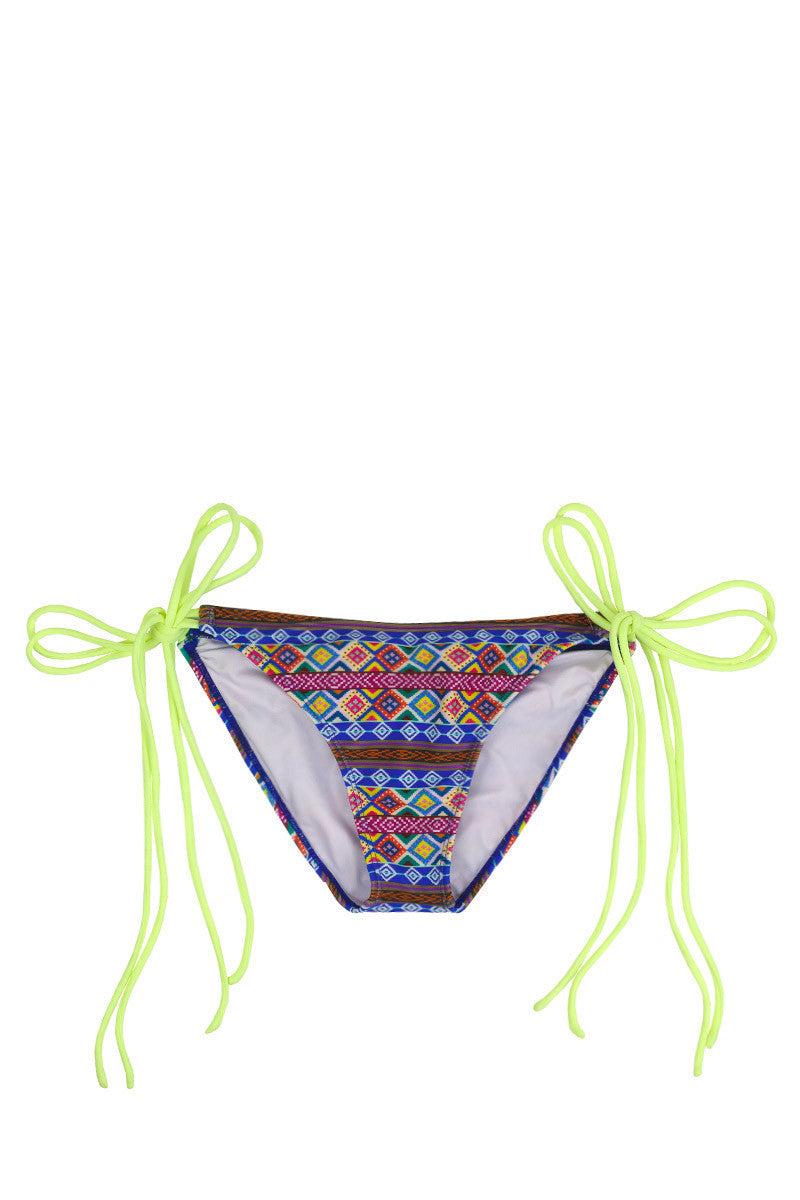 SOLKISSED Mancora Tie Side Moderate Bikini Bottom - Lime Bikini Bottom | Lime|
