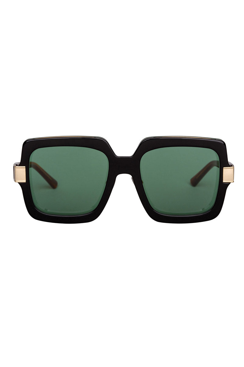 BONNIE CLYDE The Mancuso Sunglasses - 8-Track Sunglasses | 8 Track| Bonnie Clyde The Mancuso Sunglasses - 8 Track. Features: Unisexual. 100% UV Protection. Glare reduction. Scratch- resistant coating. Made from Stainless steel & Acetate.