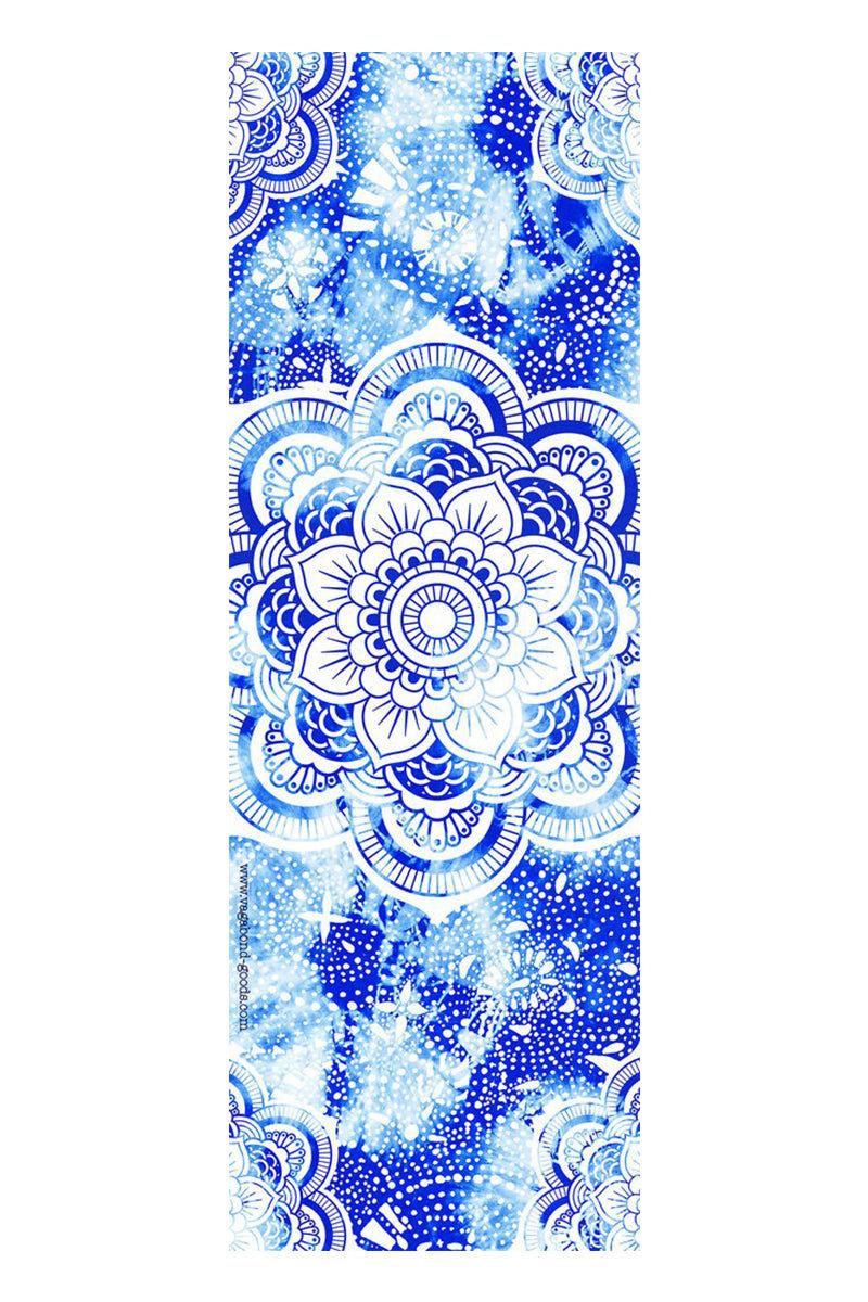 VAGABONDS GOODS Mandala Microfiber Towel Yoga Accessories   Mandala  Vagabond Goods Mandala Microfiber Towel Non-Slip Microfiber Yoga Towel Indigo Batik Pattern Mandala Symbol Machine Wash Tumble Dry